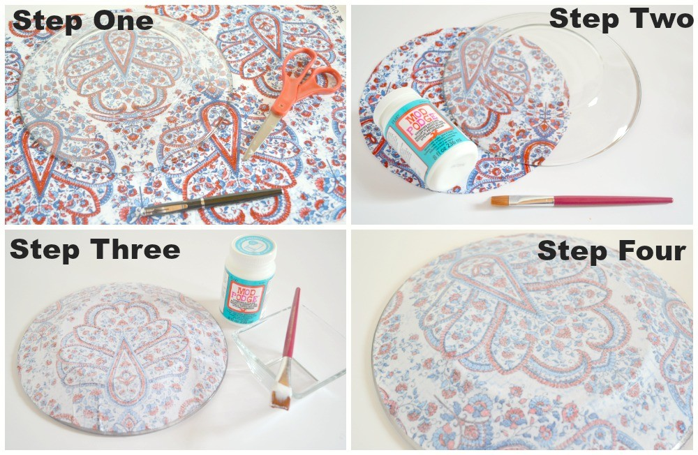 Mod Podge Cake Stand Tutorial