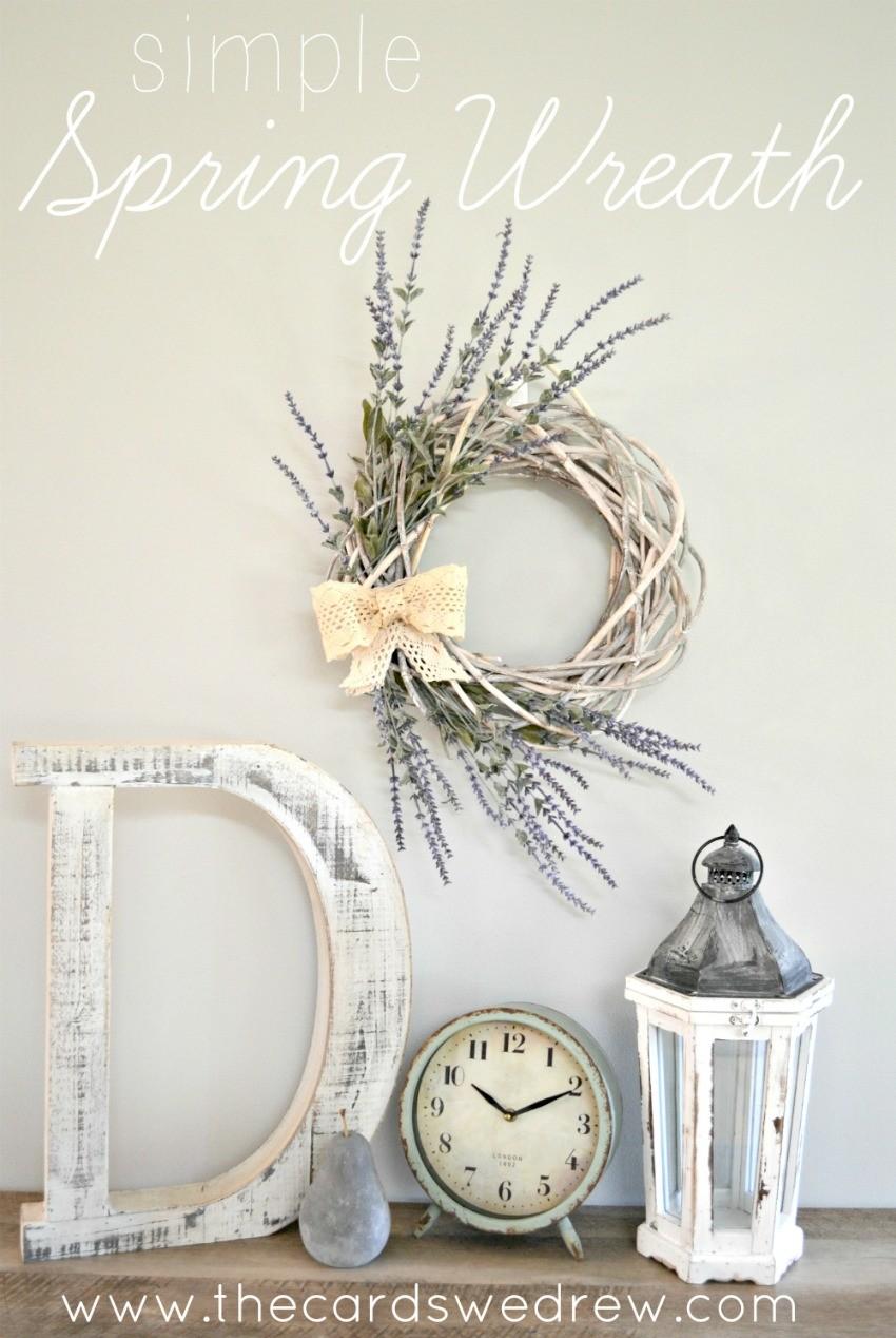 Easy Spring Nail Art With Kester Black: Simple Farmhouse Spring Wreath