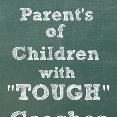 "To the Parent's of Children with ""Tough"" Coaches"
