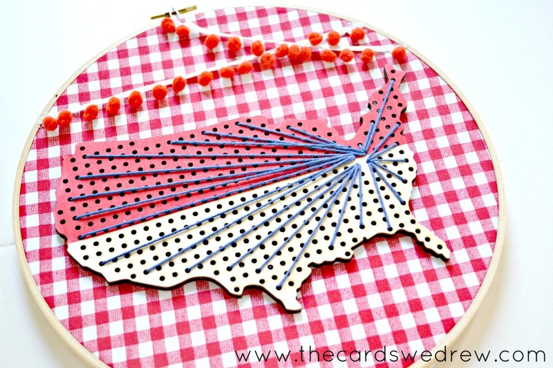 americana craft decor idea