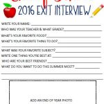 End of School Exit Interview