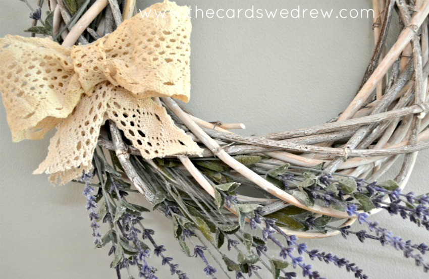 farmhouse spring wreath