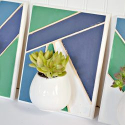 Geometric Succulent Wall Planters using FolkArt Milk Paint