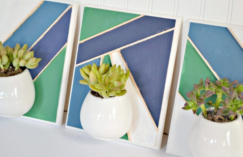 geometric milk paint wall planters no logo