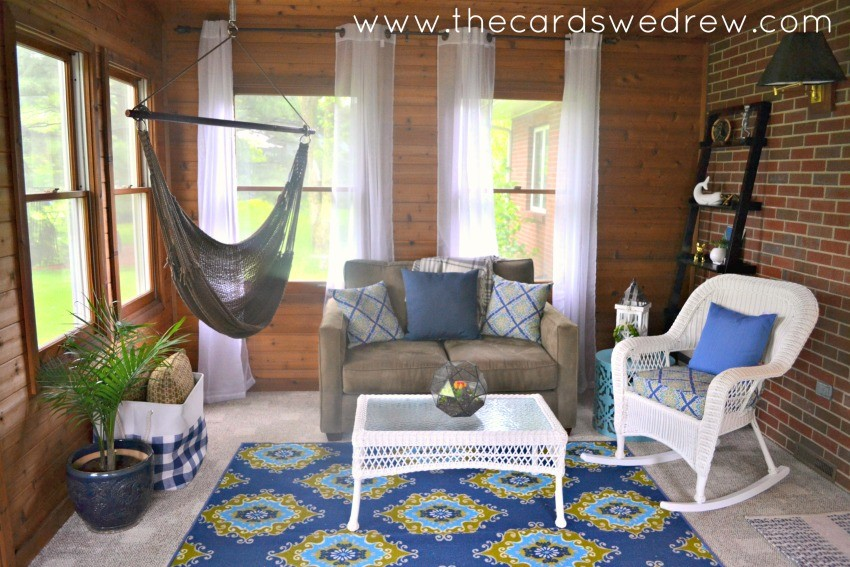 indoor patio makeover