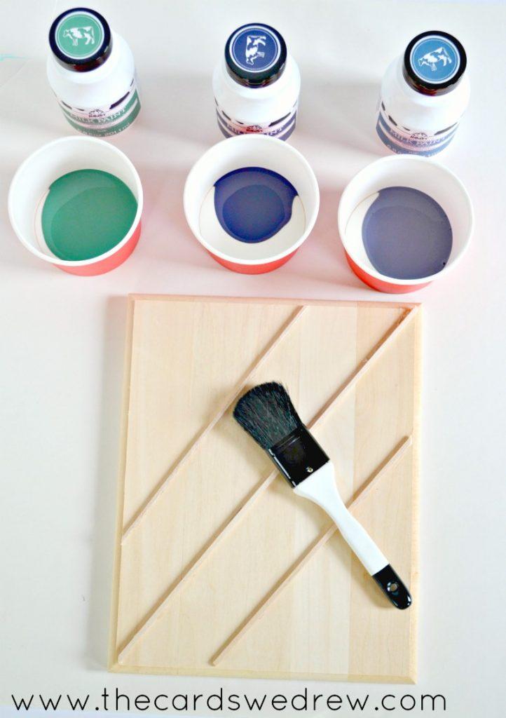 milk paint wall planters