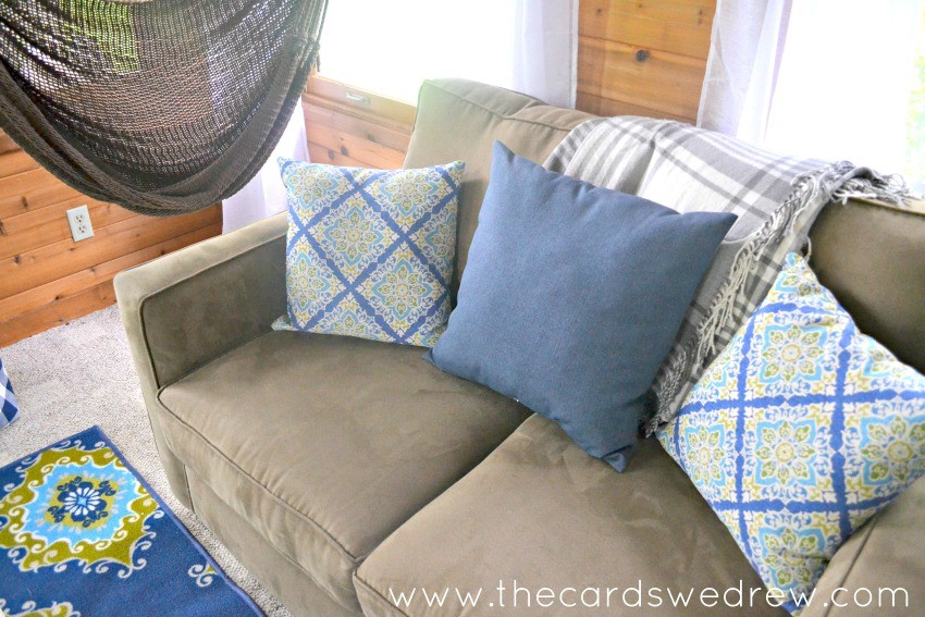 sunroom makeover with couch