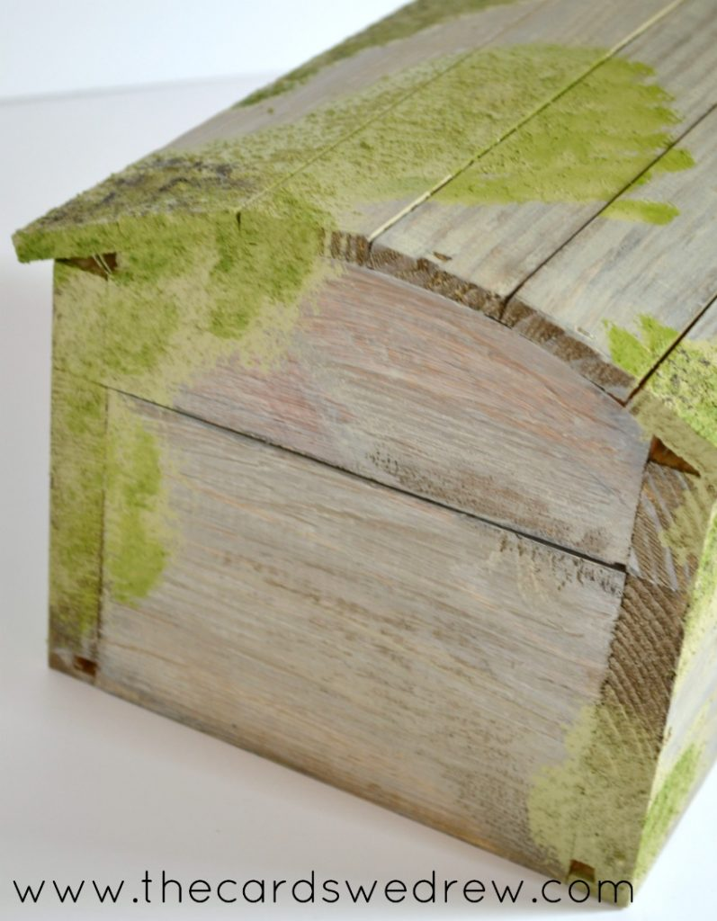 DIY Mossy Covered Barnwood Chest