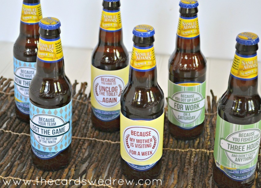 Father's Day Beer Bottle Prints