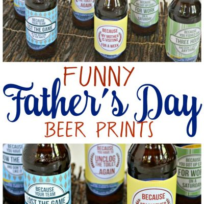 Funny Father's Day Beer Prints
