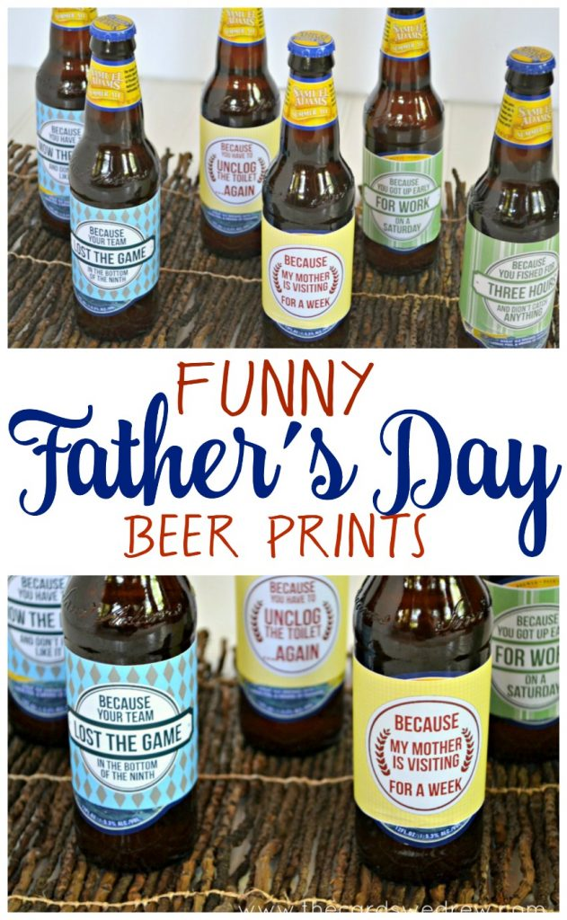 Funny Father's Day Beer Prints with free download from The Cards We Drew
