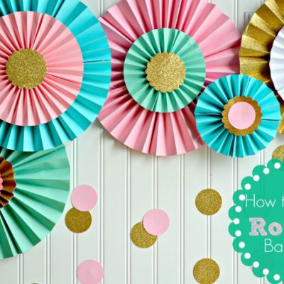 How to Make Paper Rosettes {DIY Party Decorations}