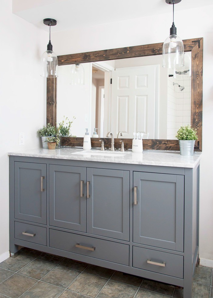 Marvelous Industrial Farmhouse Bathroom 700x1031 Part 19