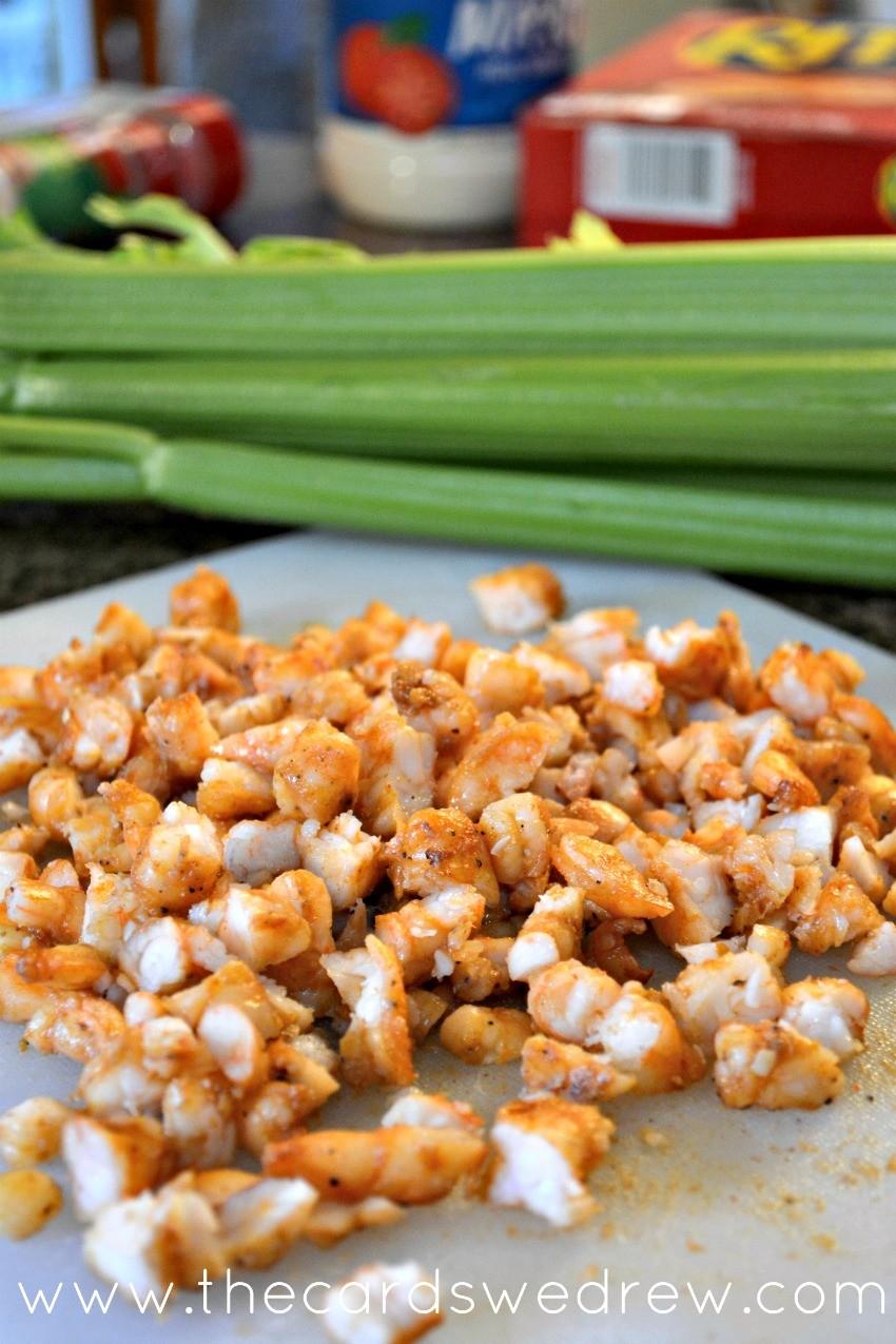 chopped shrimp