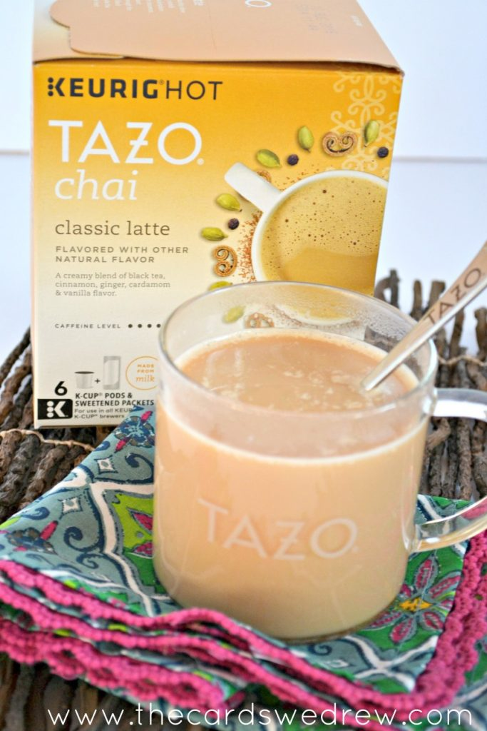 homemade Keurig Hot Tazo Chai Latte