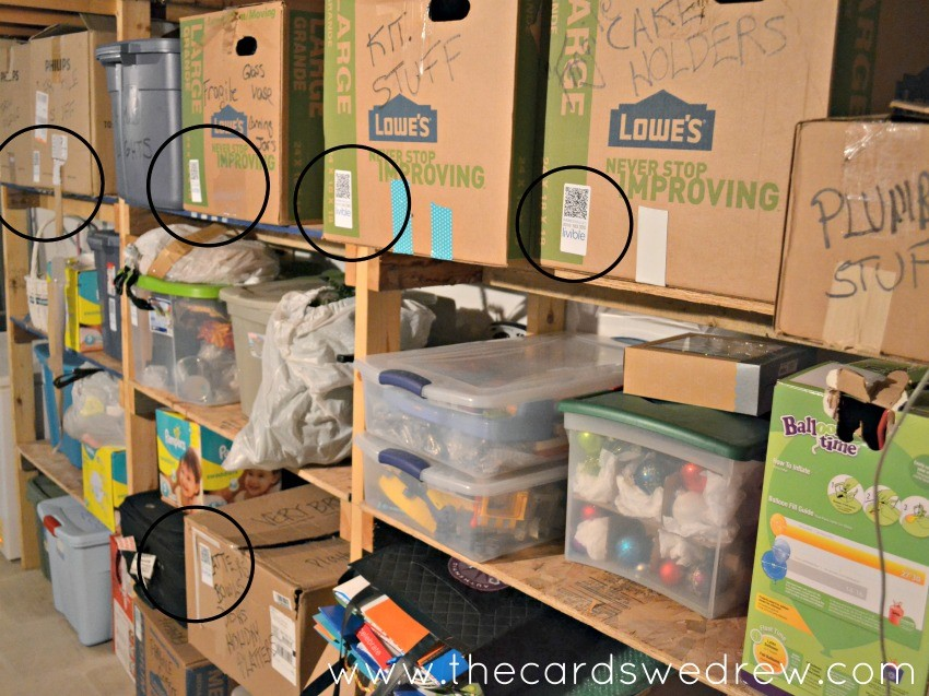 labeled basement storage