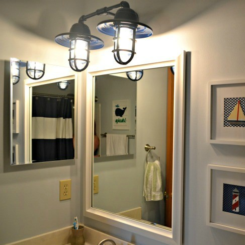 10 bathroom vanity lighting ideas the cards we drew nautical boys bathroom aloadofball Images