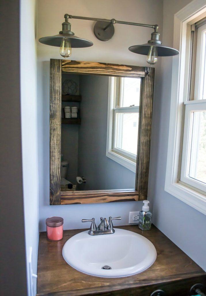 rustic bathroom light fixture
