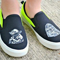 DIY Kids Star War Shoes