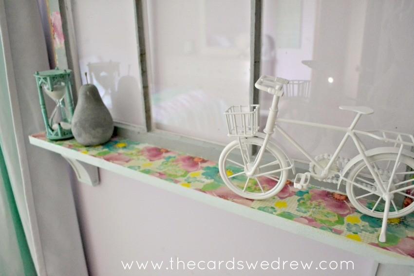 mod podge shelf window