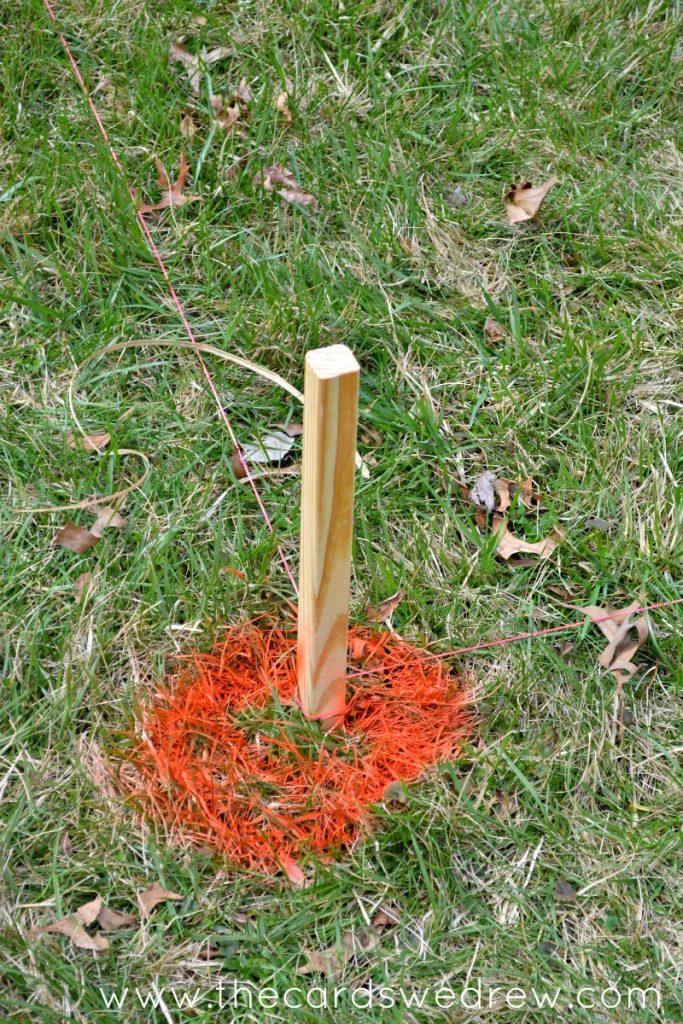 orange stake
