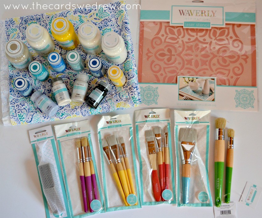 waverly stencils and fabric