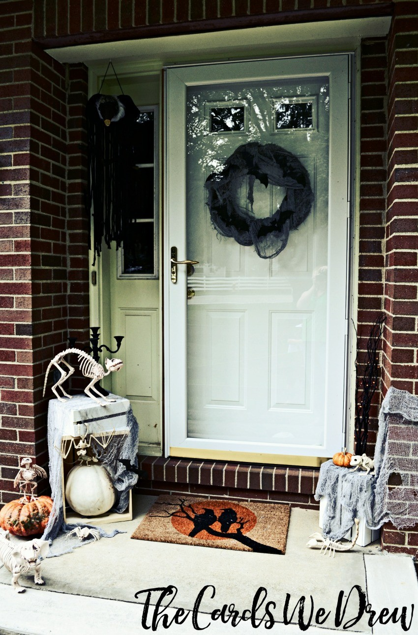 Easy Halloween Front Door Decor From The Cards We Drew
