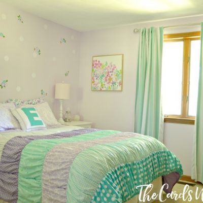 Teal and Lilac Girl's Bedroom Reveal