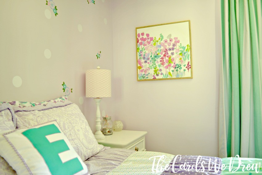 Teal And Lilac Girl S Bedroom Reveal The Cards We Drew