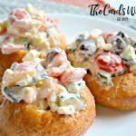Greek Shrimp Salad Cups