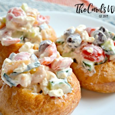Greek Shrimp Salad Cups