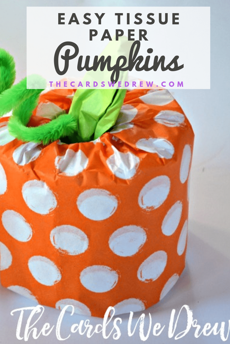 DIY Tissue Paper Pumpkins
