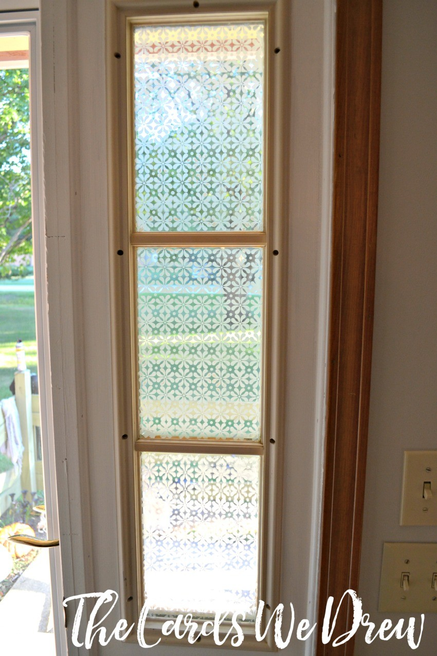 How to do a glass etched front door side window for Exterior side door with window