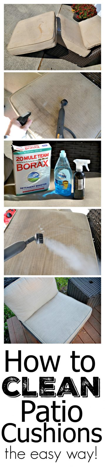 How to Clean Patio Cushions with Steam