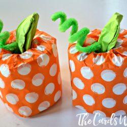 Easy Halloween Craft for Kids – Toilet Paper Pumpkins