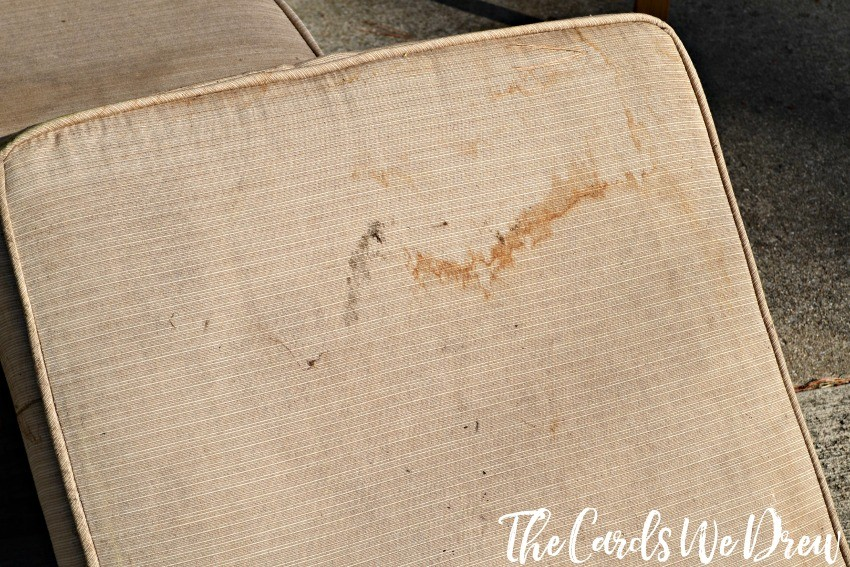 How To Get Stains Off Patio Cushions