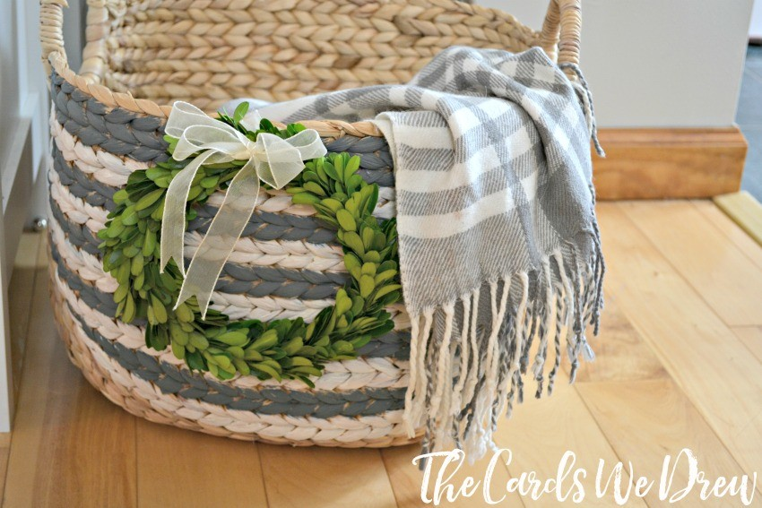 gray-and-white-striped-basket-idea