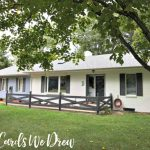 Painted Brick House Makeover