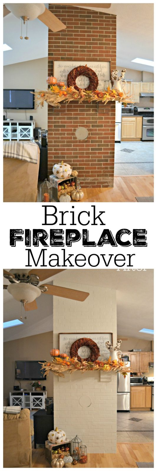 brick fireplace makeover idea from the cards we