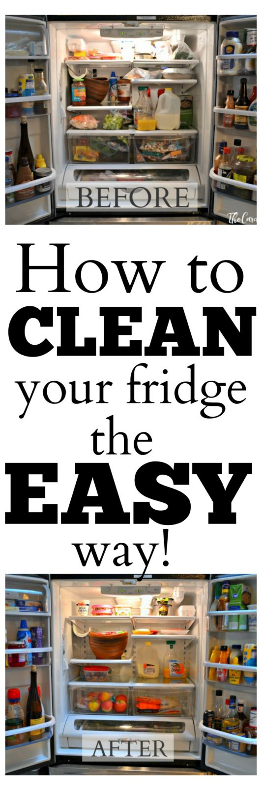how to clean and organize your fridge the easy way the cards we drew. Black Bedroom Furniture Sets. Home Design Ideas