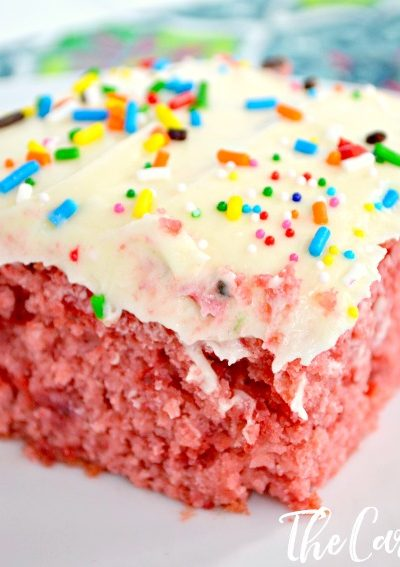 Strawberry Vanilla Dump Cake