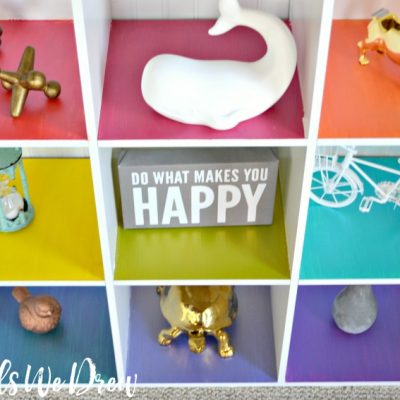 Rainbow Cubby Toy Organizer
