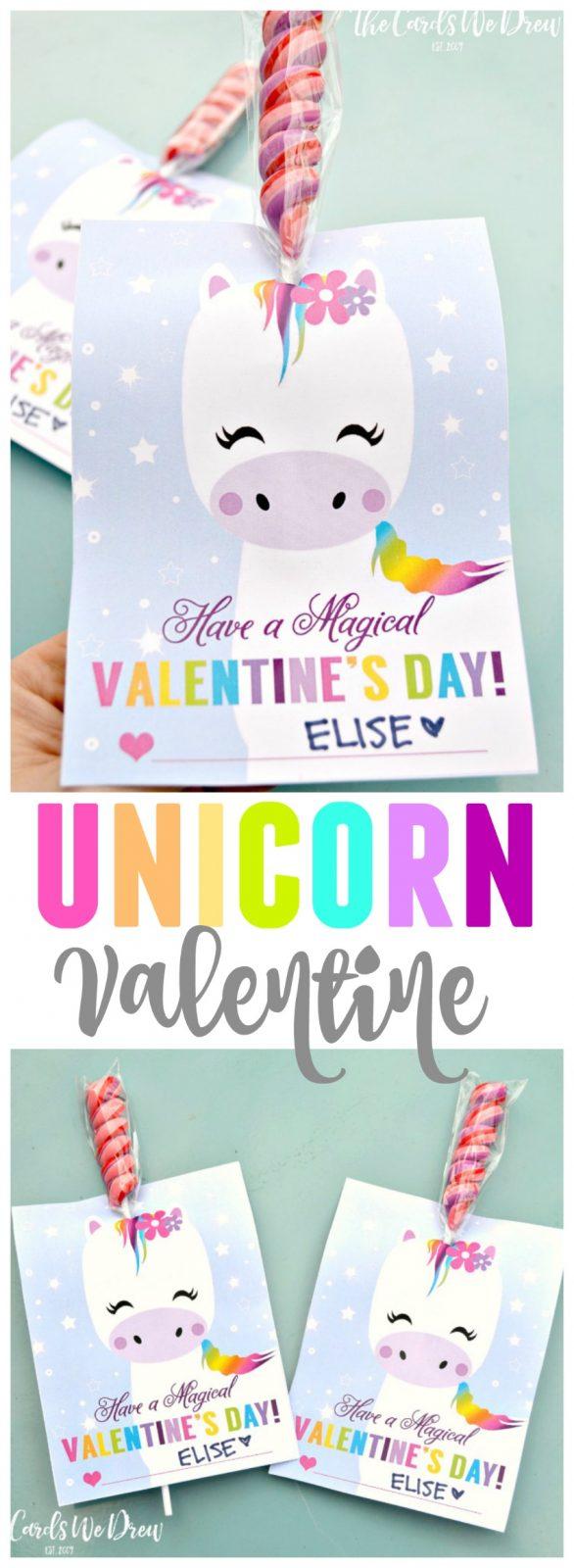 Magical Unicorn Valentine The Cards We Drew