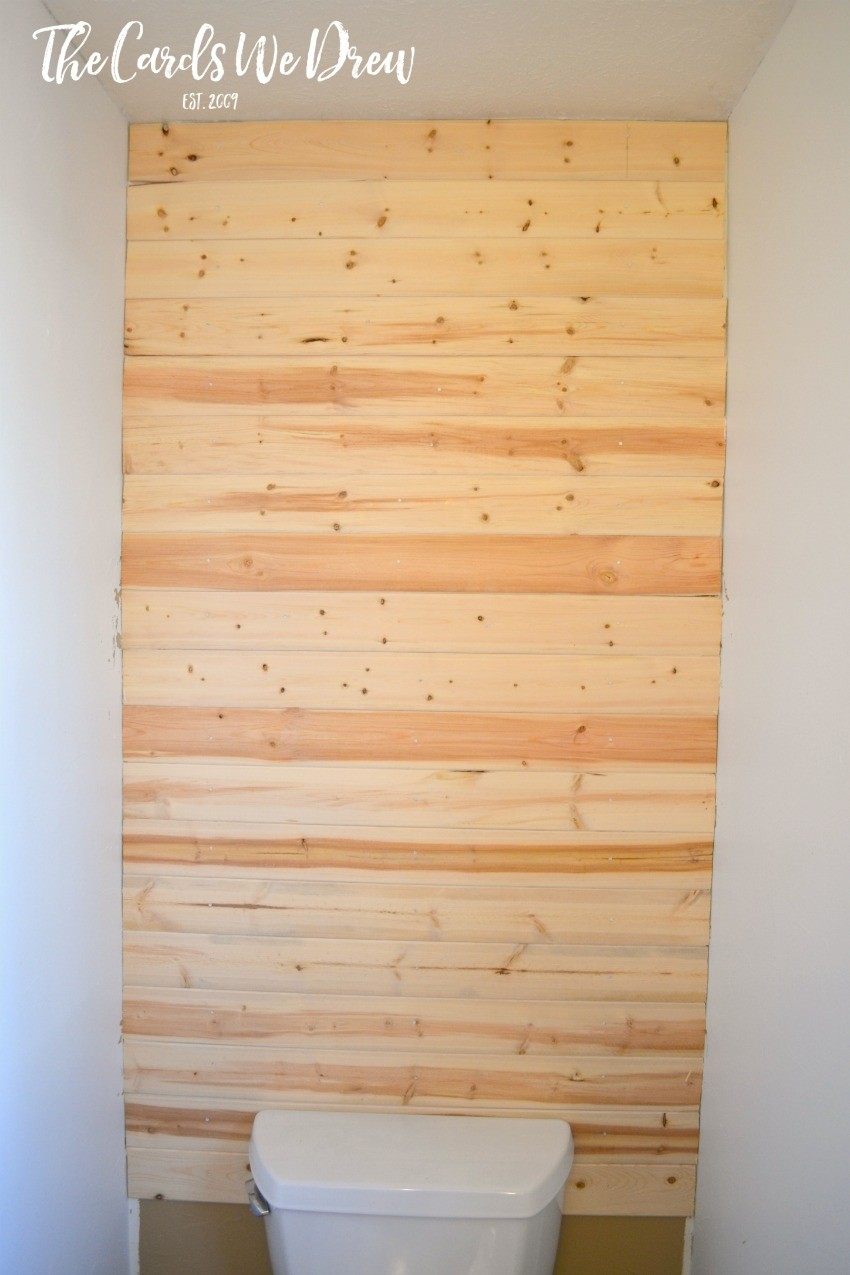 Coastal Planked Wall {Half Bath Update Part One} - Page 2 of 2 - The ...