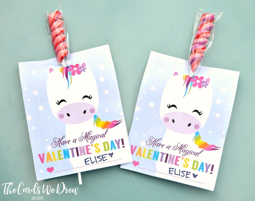 It's just an image of Crush Free Printable Unicorn Valentines