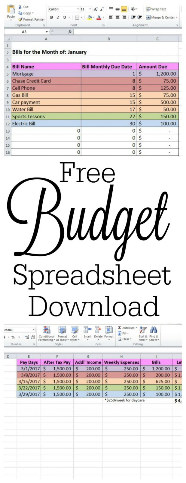 free budget spreadsheet and how to keep track of passwords