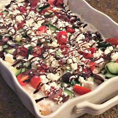 Greek Veggie Pizza Appetizer