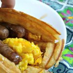 Sausage Waffle Tacos