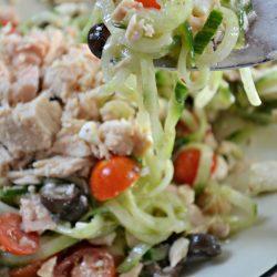 Greek Cucumber Tuna Salad