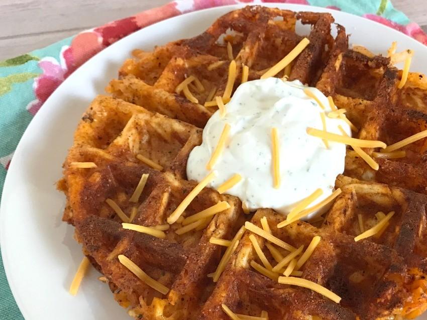 Buffalo Hash Brown Waffles